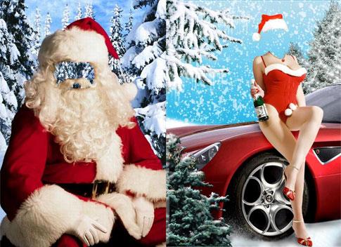 PSD de Papá Noel para Chicas