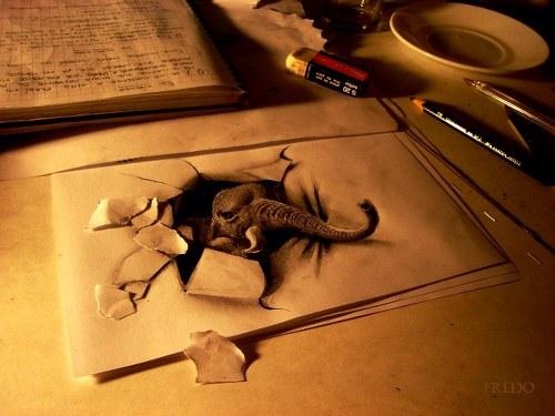 imagenes lapiz 3d 1 500x375 Imagenes 3D hechas a lapiz